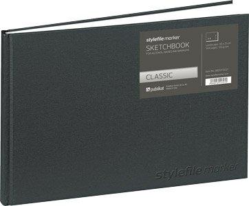 Stylefile Marker Skizzenbuch Blackbook Din A4 horizontal quer Querformat