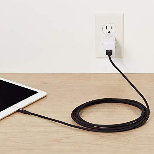 Amazon Basics Lightning auf USB A Kabel, Apple MFi Zertifiziert - 0,9 m, 1er Pack, Schwarz