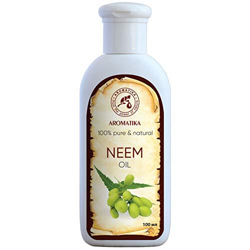 Neem olie 100ml, azadirachta indica olie - 100% puur natuurlijke neemolie rijk aan mineralen & vitamines - intensieve huidverzorging - massage - wellness - cosmetica - ontspanning - anti-rimpels