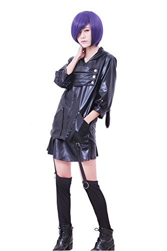 ROLECOS Womens Japanese Anime Cosplay Costumes PU Leather Battleframe Dress Suit M