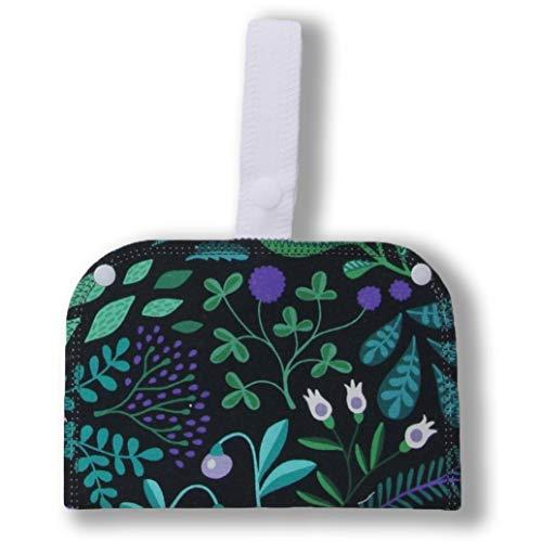Wet Bag mit Doppelfach; Perfekte Aufbewahrung für wiederverwendbare Slipeinlagen, Damenbinden, Makeup Pads und waschbare Stillkissen. Frische Pads auf der einen und gebrauchte auf der anderen Seite