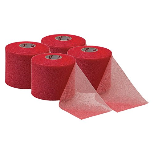 Mueller M-Wrap Pre wrap for Athletic Tape (Big Red, 4 Rolls)