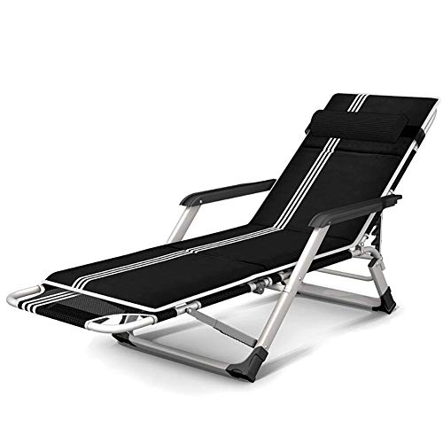 GCZZYMX Zero Gravity Chairs Oversized Zero Gravity Lounger Chair for Beach Camping, Folding Lay Flat Black Recliner Lounge Chair with Cushion, Support 265Lbs