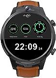 PKLG Smart Watch da 1,6 pollici ad alta definizione touch screen rotondo 3G+32G memoria, 5MP+5MP doppia fotocamera, batteria 1080Mah, impermeabile IP67, compatibile con iPhone e smartphone Android (A)