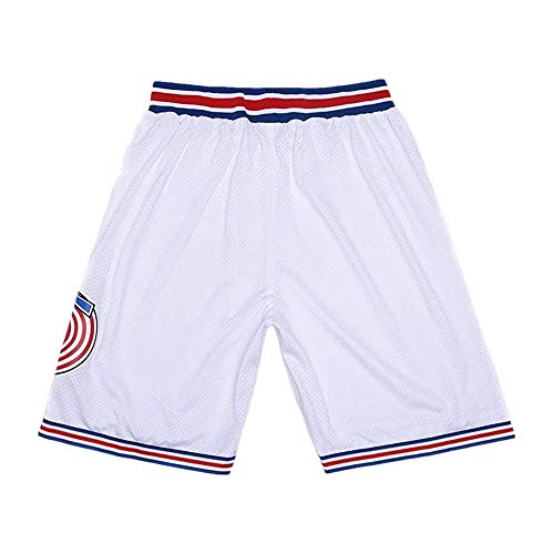 CAIYOO Youth Space Movie Shorts Kids Basketball Shorts Sports Pants for Boys S-XL White/Black (White, Small)