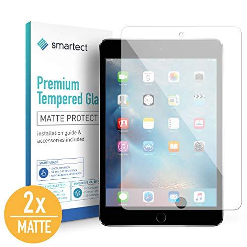 smartect Mattes Panzerglas kompatibel mit ipad Mini 4 / Mini 5 [2X MATT] - Bildschirmschutz mit 9H Festigkeit - Blasenfreie Schutzfolie - Anti Fingerprint Panzerglasfolie