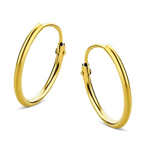 Orovi Damen Ohrringe Gelbgold Creolen 9 Karat (375) Gold