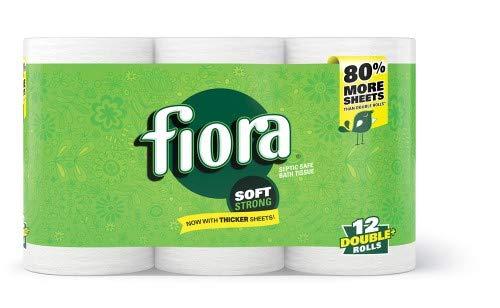 Fiora Unscented Bath Tissue (Pack of 2)