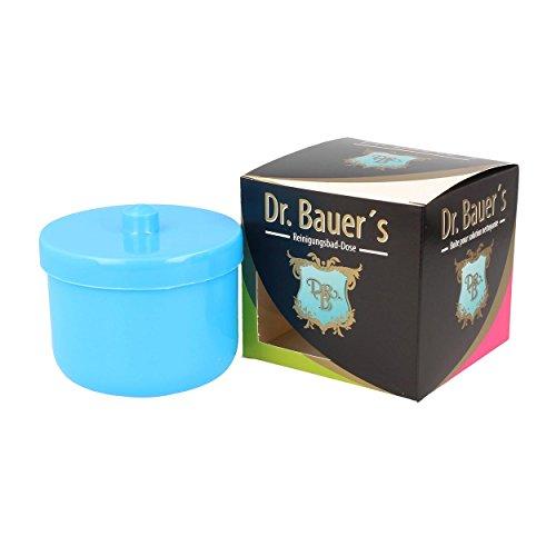 Dr. Bauer´s Reinigungsbad-Dose mit Klarspüleinsatz | Prothesendose | Gebissdose | Prothesendose mit Einsatz | Zahnspangendose (hellblau)