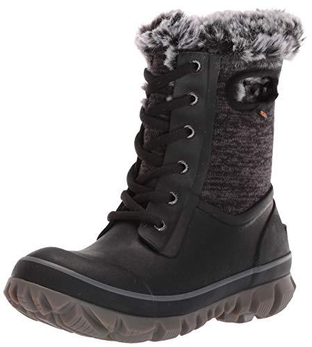 BOGS Women's Arcata Knit Waterproof Insulated Winter Snow Boot, Black Multi, 9 M US