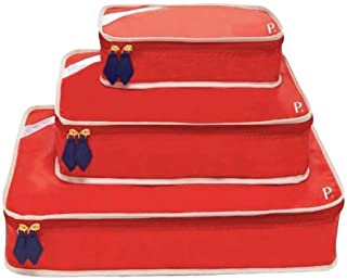 Paravel Travel Packing Cubes | Set of 3 | Bebop Red | Luggage Bag Organizers for Travel Accessories, Shoes, Toiletries, La...