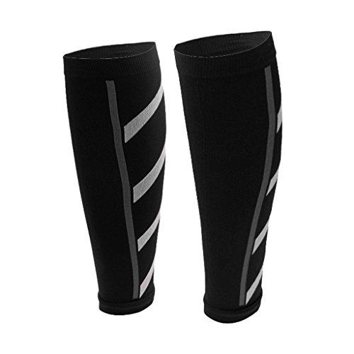 Generic Unisexe Athlétisme De Course Manches De Compression Mollet Jambe Périostite Tibiale - Noir, Taille Unique