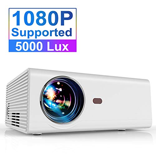 Great Features Of Projector, YABER Portable Projector with 5000LUX 60,000 HRS LED Lamp Life, 1080P a...