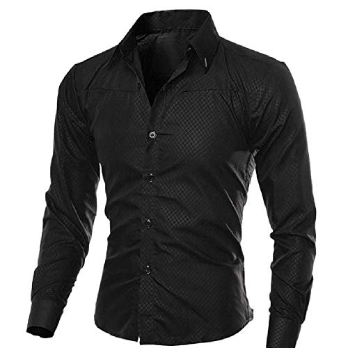 Solid Men Shirt Casual Camisa Social Masculina Slim Fit Home Shirts Tops Chemise Homme Classic Long Sleeve Men Shirts Black