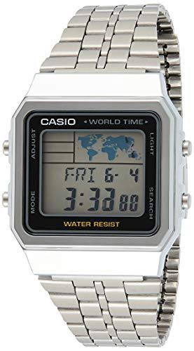 Relógio Feminino Digital Casio A500WA-1DF - Prata