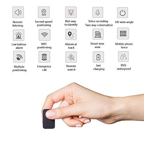 Mini Dispositivo Oculto del Localizador del Perseguidor del Espía del Espionaje Usado para Los Ancianos,Los Niños Son Anti-Perdidos,Perseguidor Artículo, Buscador Teléfono, iOS/Android Compatibles