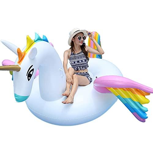 大きなインフレータブルカラーペガサスプールフロートフロートフロートライドオン速いバルブの大きい隆起可能な爆発夏のビーチプールパーティーラウンジラフトの装飾のおもちゃ子供大人