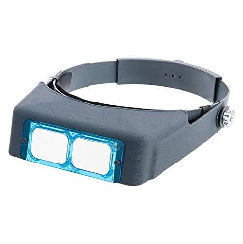 Tipo de Gafas HD Vidrio montado en la Cabeza Removible 1.5X 2X 2.5X 3.5X Mesa de reparación de teléfonos móviles para niños Ancianos Leyendo Lente electrónica Diámetro 105 mm