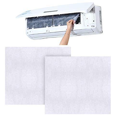 Porfeet Klimaanlagenfilter, 40 Stück Klimaanlage Anti-Staubreinigung Ersatz-Baumwollfilterpapier Weiß
