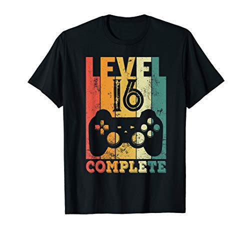 16. Geburtstag Junge Mädchen Level 16 Jahre 2004 Geschenk T-Shirt
