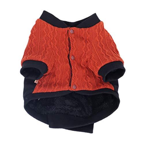 Etophigh huisdier herfst winter en warm kostuum voor kat hond jongen puppy twee benen knop jas tijger hoofd Print trui, S