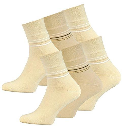 VCA 6 Paar Herren Kurzschaft Socken aus gekämmter Baumwolle, ohne Gummib&, ohne Naht, Top Qualität. Gr. 43-46