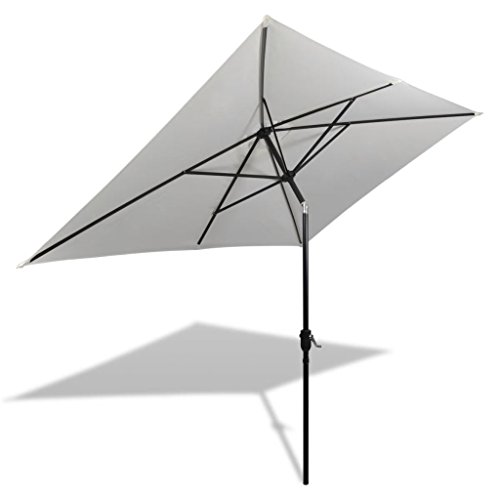 vidaXL Sombrilla de Jardín Rectangular Plegable Tela Verde 200x300 cm Parasol