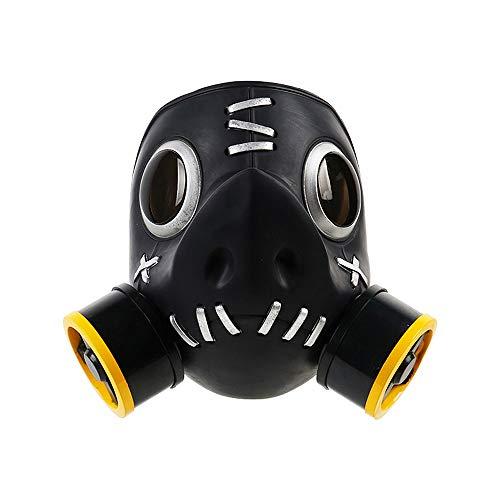 Pandacos Overwatch Roadhog Cosplay Maske Halloween Gasmaske aus Harz Deluxe-Version für Kolletion und Karneval