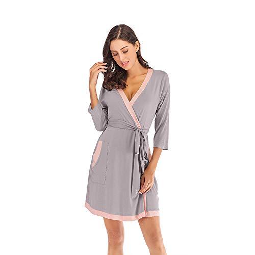 Batas Largas Kimono para Mujer algodón Lenceria Ropa de