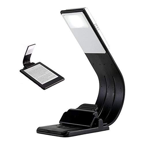Dokkita Kindle Luces, Lámpara de Lectura LED Recargable USB, Libro Luz LED Plegable con Clip para Libros, Revistas, eReader, eBook, Tableta, Kindle, iPad, Viajes, etc.