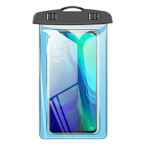 QINX Funda universal para teléfono móvil impermeable para natación, resistente a la humedad, color azul