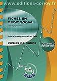 Fiches en droit social - Unité d'enseignement 3 du DCG. Fiches de cours