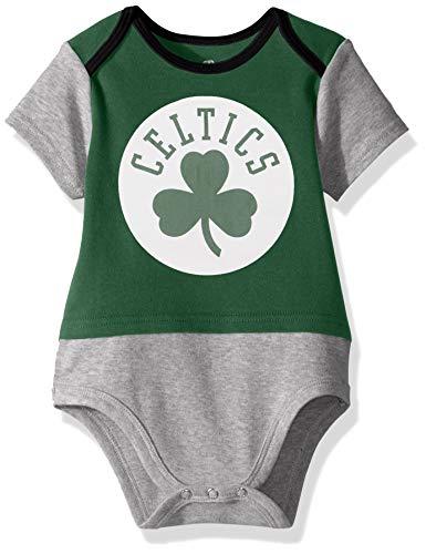NBA by Outerstuff NBA Newborn & Infant Boston Celtics Referee Short Sleeve Bodysuit, Kelly Green, 6-9 Months