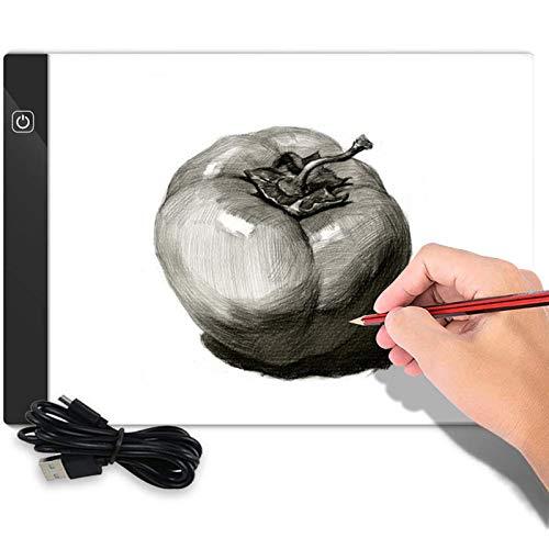 Mesa luminosa A4, con cable USB, portátil, con brillo ajustable para pintar