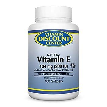 Vitamin Discount Center Vitamin E 200 I.U 100 Softgels