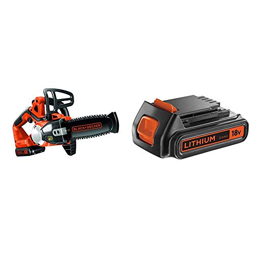 BLACK+DECKER GKC1820L20-QW - Motosierra a batería 18V + BLACK+DECKER BL2018-XJ - Batería de litio Tipo Carril de 18 V