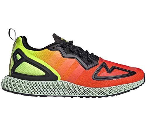 adidas FV9028 ZX 2K 4D, Zapatillas para Correr de Carretera Unisex Adulto, Solar Yellow Hi Res Red Core Black, 46 EU