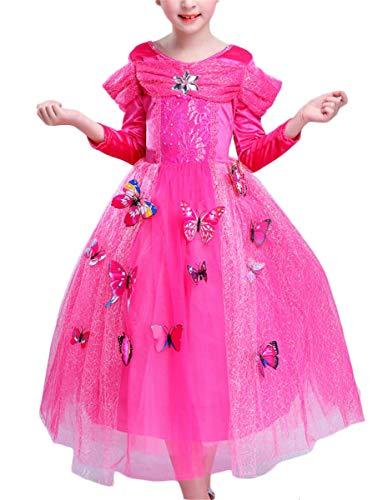 LCXYYY Fille Princesse Cendrillon Costume pour Enfants Papillons Maxi Dress Fantaisie Dress Up Tutu Robes Cosplay Carnaval Déguisement Fête Cosplay Costume Accessoires De Carnaval Festkleid Halloween