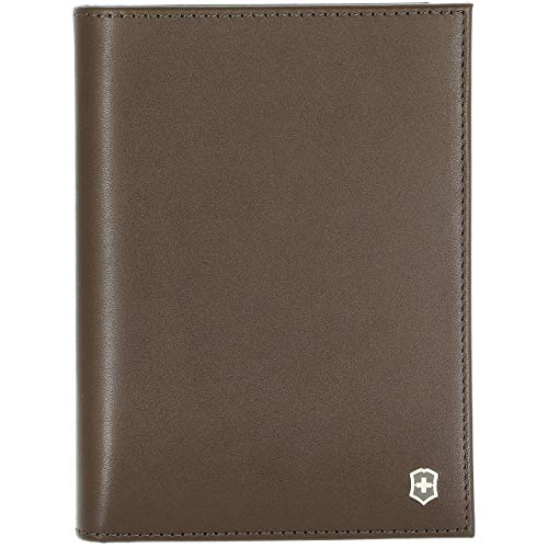 Victorinox Altius Edge Leibnitz Passport Cover w/RFID Dark Earth Leather One Size