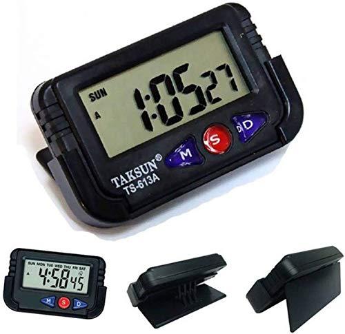 ERH India Digital LCD Alarm Table Desk Car Calendar Clock Timer Stopwatch Dashboard/Office Desk Alarm Clock and Stopwatch Digital Clock for Car Dashboard