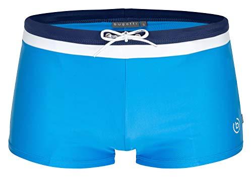 Bugatti® - Moderne Herren Badehose/Badepants in grün, Marineblau, rot, schwarz oder türkis (Medium (Herstellergröße: 5), blau/Marine)