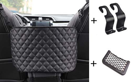 ARABINXIN Car Handbag HolderLeather Seat Back Organizer Mesh Large Capacity Bag Purse Storage amp Pocket Seat Back Net Bag Handbag Holder Between The Two Seats of The Car Leather
