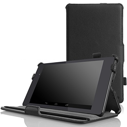 MoKo Google Nexus 7 2013 FHD 2nd Gen Case - Slim-Fit Multi-Angle Stand Cover Case with Auto Wake/Sleep for Google Nexus 2 7.0 Inch 2013 Generation Android 4.3 Tablet, Black
