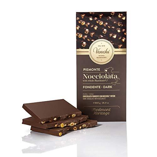 Venchi Maxi Tavoletta di Cioccolato Fondente 56% con Nocciole Intere, 800 gr
