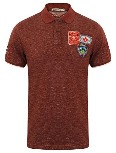Tokyo Laundry -  Polo - Camicia - Basic - con Bottoni - Uomo Beauworth -Oxblood Red Small