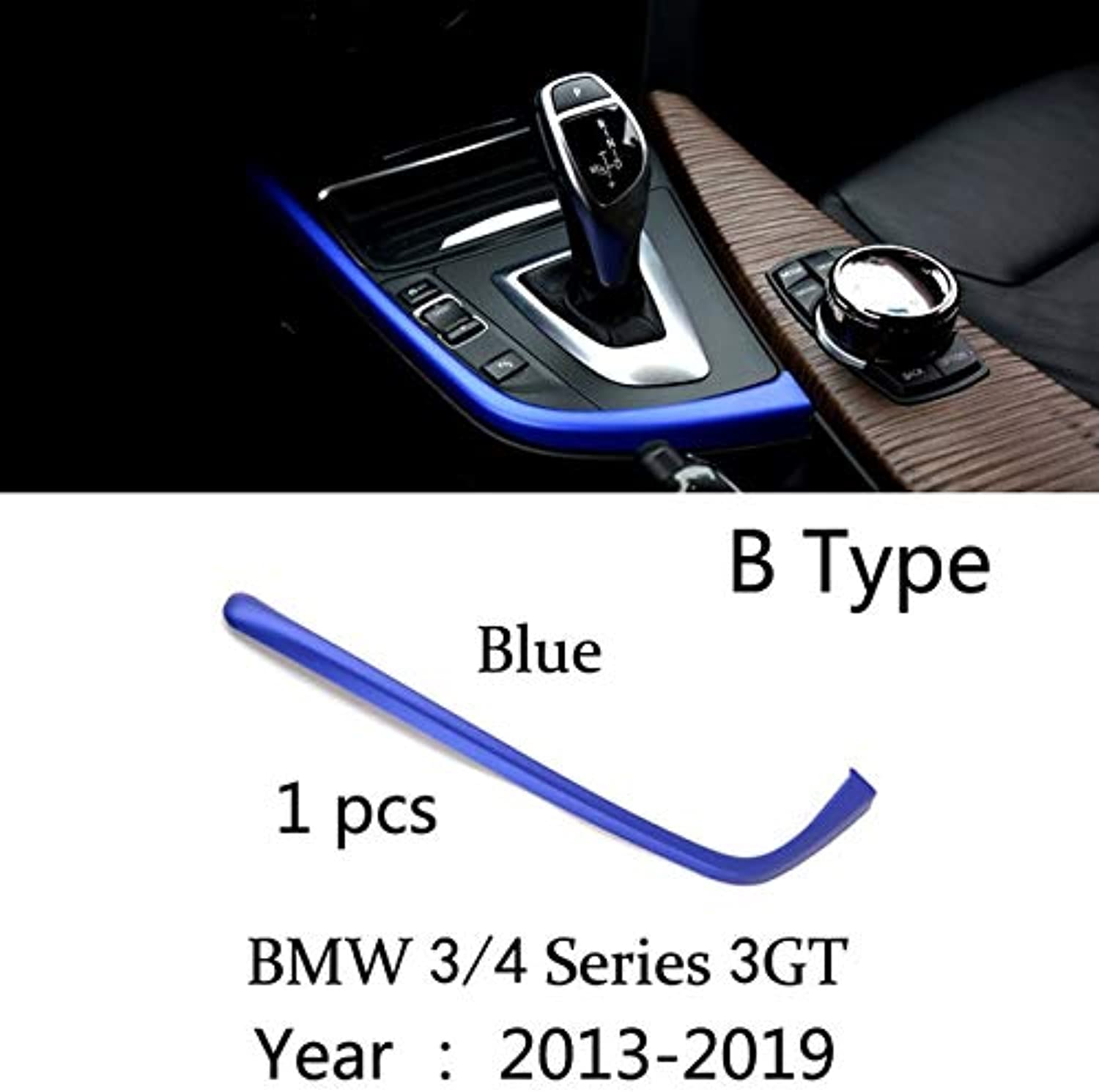Carbon Fiber Car Styling Interior Gear Shift Cover Multimedia Button Panel Trim Sticker for BMW F30 F32 F34 F36 Accessories  (color Name  B Type)