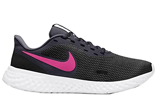 Nike Revolution 5, Zapatillas para Correr Mujer, Negro y Rosa, 40 EU