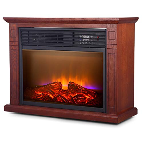 Electric Space Heater, 1500W Infrared Heater with...