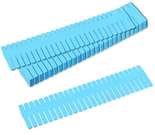GlobalDream Separador Cajones Cocina, 12 Piezas Organizador Cajones Baño Separadores Cajones Divisores de Cajones para Cocina Dormitorio Baño Oficina, 32,5 x 7cm, Azul