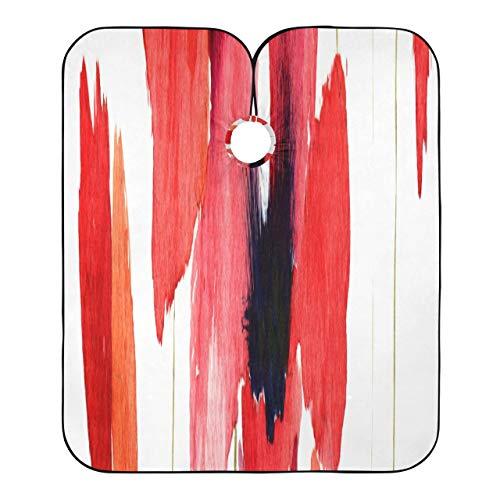 Capa para cortar el cabello Color rojo sangre Flor Amapola Delantal de corte de pelo Elegante y ligero Cubierta de corte de pelo Capa Cierre ajustable con 2 ventosas 55x65 pulgadas